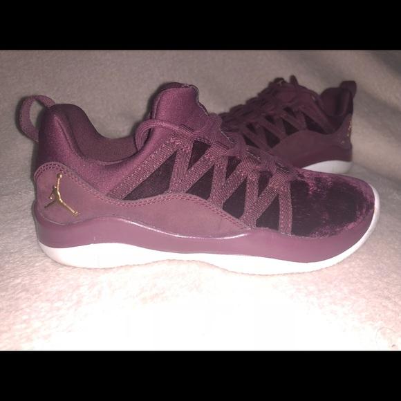 Shoes   Burgundy Velvet Jordans   Poshmark